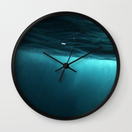 Turquoise Plunge Wall Clock