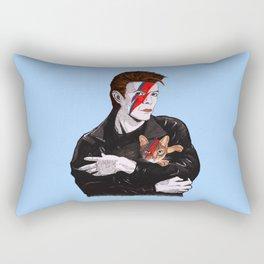 David & The cat Rectangular Pillow