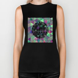 World Of Triangles - Geometric artwork Biker Tank