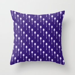 Spoons Pattern (Purple) Throw Pillow