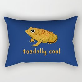 Toadally Cool Psychedelic Toad Rectangular Pillow