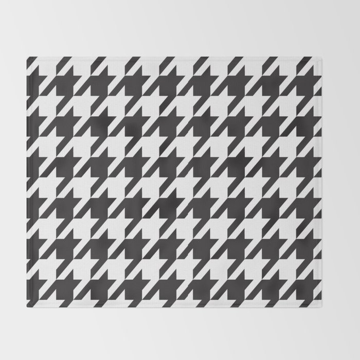 Houndstooth Retro 40 Throw Blanket By Marilenaxiari Society40 Best Black And White Houndstooth Throw Blanket