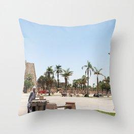 Temple of Luxor, no. 23 Throw Pillow