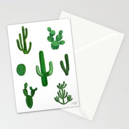 Cactus Collage Stationery Cards