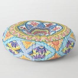 Passiflora Mandala #1 Floor Pillow