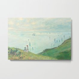 Claude Monet - Cliffs at Pourville Metal Print