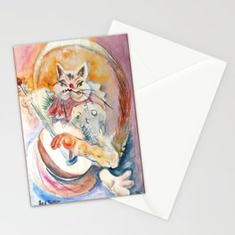 Cat Music Stationery Cards