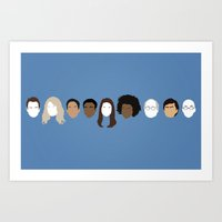 community Art Prints featuring Community by Bill Pyle