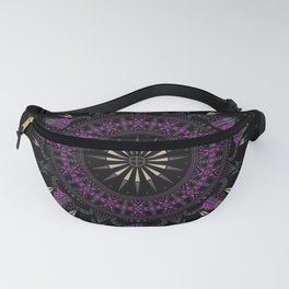 Buffalo Skull and Feathers (Purple) Fanny Pack