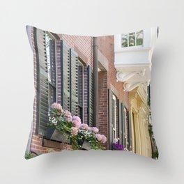 Beacon Hill Brownstones Throw Pillow