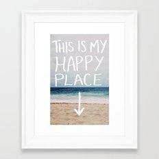 My Happy Place (Beach) Framed Art Print