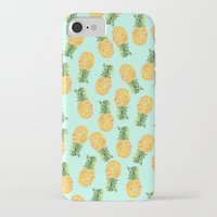 novelty iPhone & iPod Cases featuring Pineapple by Amy Sia