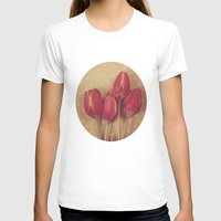 antique T-shirts featuring Antique Tulips by Jessica Torres Photography