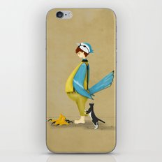 Blue Chickadee iPhone & iPod Skin