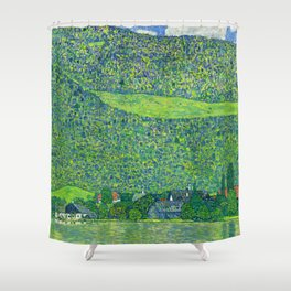 Klimt - Litzlberg on the Attersee (new editing) Shower Curtain
