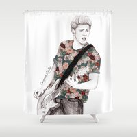 coconutwishes Shower Curtains featuring Floral Niall by Coconut Wishes