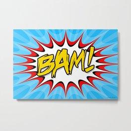 """BAM!"" Pop Art Poster Metal Print"