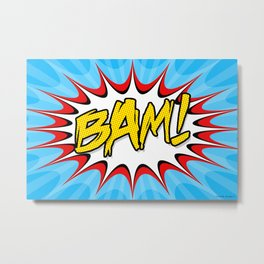 """BAM!"" Pop Art Poster Metal Print"