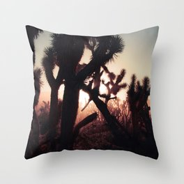 Joshua Trees at Sunset Throw Pillow