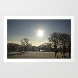 Wicksteed Park in Winter Art Print