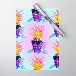 Pineapple Ultraviolet Happy Dude with Sunglasses Wrapping Paper