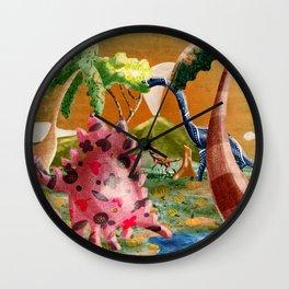 Happy dinos Wall Clock