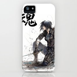 Calligraphy SOUL Ghost in the Shell Motoko Ninja iPhone Case