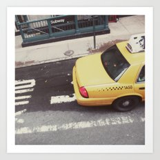 one way taxi:: nyc Art Print