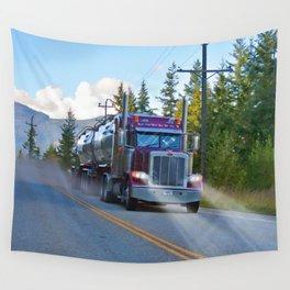 Trans Canada Trucker Wall Tapestry