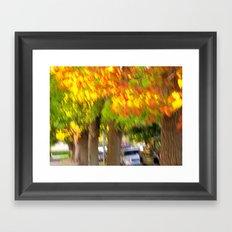 Fall is a Beautiful Blur Framed Art Print