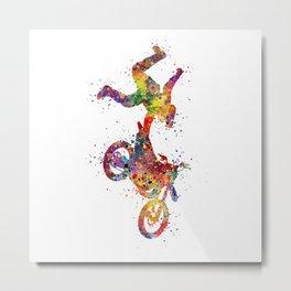 Motocross Boy One-Handed Hart Attack Metal Print