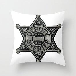 Deputy Sheriff Badge Throw Pillow