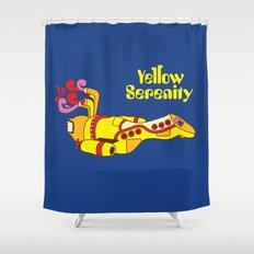Yellow Serenity Shower Curtain