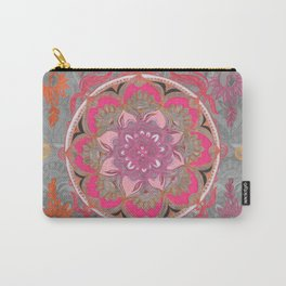 Hot Pink, Magenta and Orange Super Boho Medallions Carry-All Pouch