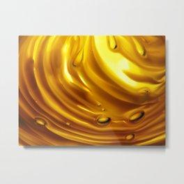 Amber Ripples 2 Metal Print