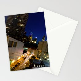 Light Trails in Philly Urban Landscape Night Photograph Stationery Cards
