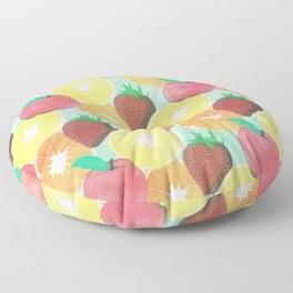 Stylish Colorful Summer Fruits Design Floor Pillow