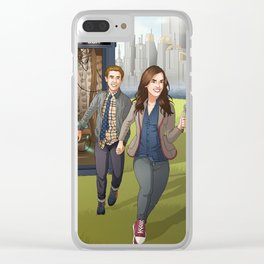 Fitzsimmons - Running Through Time and Space Clear iPhone Case