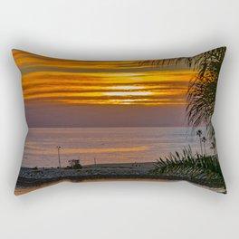 Wedge Through the Palms at Sunset Rectangular Pillow
