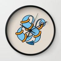 et Wall Clocks featuring Et Anchor by Robert Karpati