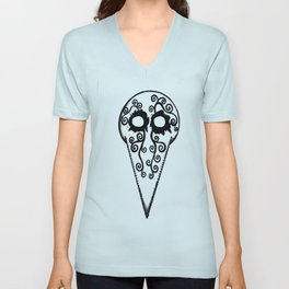 Plague Doctor Mask Unisex V-Neck