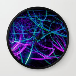 Abstract purple and blue light effect Wall Clock