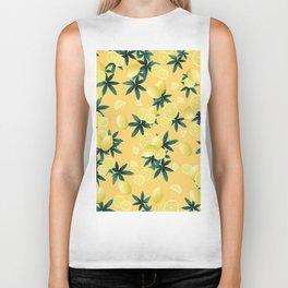 Lemon Twist Vibes #3 #tropical #fruit #decor #art #society6 Biker Tank