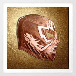Bronze Luchador Art Print