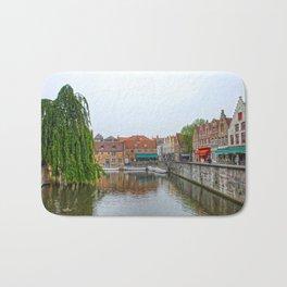 Brugge Canal Bath Mat