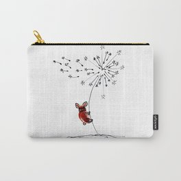 Hold on my Bouboule, french bulldog art by BoubouleArt Carry-All Pouch