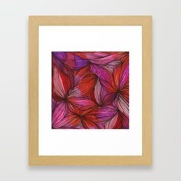 brightly blooming squared Framed Art Print