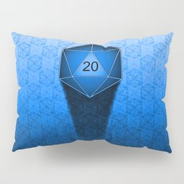 D20 All I Do Is Crit!  Blue Ombre Pillow Sham