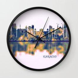Karachi Skyline Wall Clock