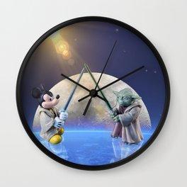 Mickey Vs Yoda Wall Clock